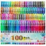 The Best Gel Pens For Coloring Options: Aen Art Glitter Gel Pens, 100 Color Glitter Pen Set
