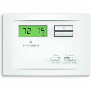 The Best Home Thermostat Options: Emerson NP110 Non-Programmable Single Stage