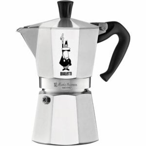 The Best Moka Pot Options: Bialetti Express Moka Pot, 6 -Cup, Aluminum Silver