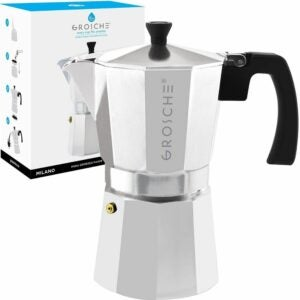The Best Moka Pot Options: GROSCHE Milano Stovetop Espresso Maker Moka Pot