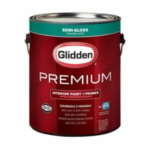 The Best One Coat Paint Options: Glidden Premium Base Semi-Gloss Interior Paint