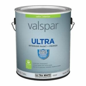 The Best One Coat Paint Options: Valspar Ultra White Satin Tintable Interior Paint