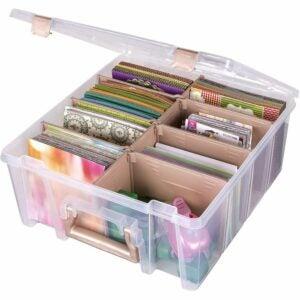 最佳照片存储盒选择:ArtBin 6990RK超级背包双层深层Organizer