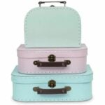 The Best Photo Storage Boxes Options: Jewelkeeper Paperboard Suitcases, Set of 3