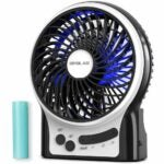 The Best Portable Fan Option: OPOLAR Mini Portable Battery Operated Desk Fan