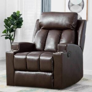 The Best Recliners For Back Pain Options: ANJ HOME Breathable PU Leather Recliner Chair