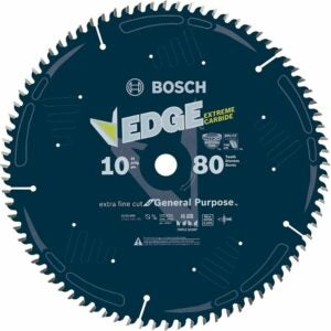 The Best Saw Blade For Cutting Laminate Flooring Options: Bosch DCB1080 Daredevil 10-Inch 80-Tooth Saw Blade