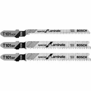 The Best Saw Blade For Cutting Laminate Flooring Options: Bosch T503 3-Piece Hardwood/Laminate Flooring T-Shank