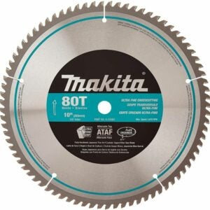 The Best Saw Blade For Cutting Laminate Flooring Options: Makita A-93681 10-Inch 80 Tooth Micro Polished Blade