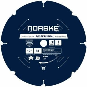 "The Best Saw Blade For Cutting Laminate Flooring Options: Norske Tools NCSBP284 12"" 8 Tooth Polycrystalline"