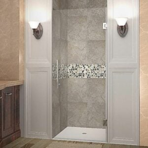 The Best Shower Doors Option: Aston Cascadia Frameless Hinged Shower Door