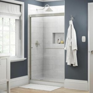 The Best Shower Doors Option: Delta Simplicity Semi-Frameless Sliding Shower Door
