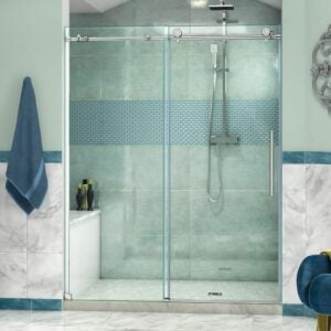 The Best Shower Doors Option: DreamLine Enigma-X Frameless Sliding Shower Door