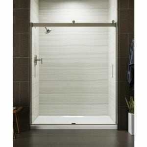 The Best Shower Doors Option: KOHLER Levity Semi-Frameless Sliding Shower Door