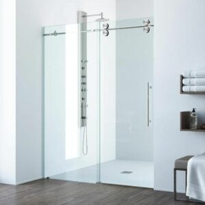 The Best Shower Doors Option: VIGO Elan Frameless Sliding Shower Door