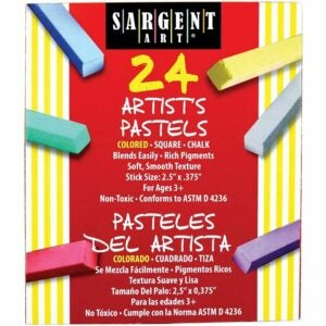 The Best Soft Pastels Options: Sargent Art 22-4124 Colored Square Chalk Pastels