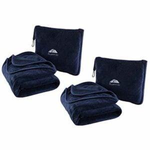 The Best Travel Blanket Options: BlueHills 2-Pack Premium Soft Travel Blanket Pillow