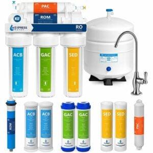 最佳下水槽水过滤选择:快速水RO5DX反渗透过滤系统