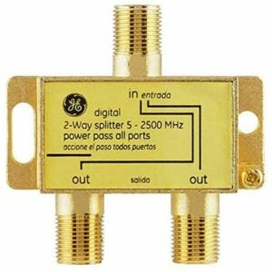 The Best Coaxial Cable Options: GE Digital 2-Way Coaxial Cable Splitter, 2.5 GHz