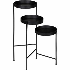 The Best Indoor Plant Stands Option: Kate and Laurel Finn Tri-Level Metal Plant Stand