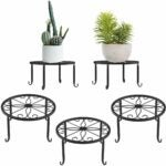 The Best Indoor Plant Stands Option: Lewondr Potted Plant Stand, 3 Pack