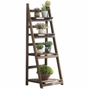 The Best Indoor Plant Stands Option: VIVOSUN 9 Tier Wooden Plant Stand