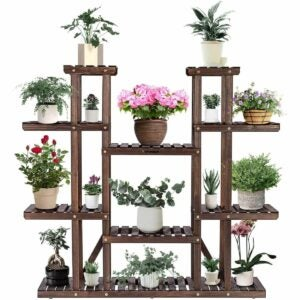 The Best Indoor Plant Stands Option: TMGY Metal Tall Plant Stand Indoor/Outdoor