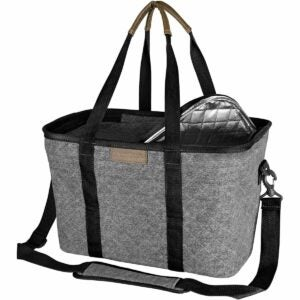 The Best Insulated Grocery Bag Option: CleverMade SnapBasket Insulated Grocery Shopping Bag