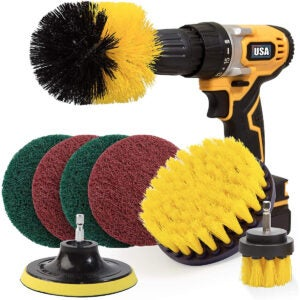 The Best Power Scrubber Options: Holikme 8 Piece Drill Brush Attachment Set Scouring Pads