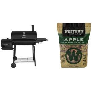最好的吸烟者烤肉组合选项:皇家美食30烧烤木炭烤架和偏移吸烟者