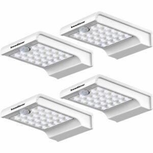 The Best Solar Gutter Lights Option: Auzev 2 Pack 56 Led Remote Solar Lights