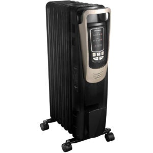 The Best Space Heater For Bedroom Options: PELONIS Oil Filled Radiator Heater Luxurious Champagne Portable Space Heater