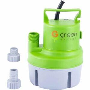 The Best Sprinkler Pump Option: Green Expert 203617 1/6HP Portable Submersible