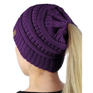 Best Winter Hats Options: C.C BeanieTail Soft Stretch Cable Knit Messy