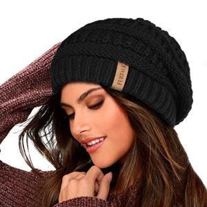 Best Winter Hats Options: FURTALK Knit Beanie Hats for Women Men Fleece