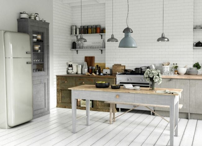 country-kitchen-scandinavian-style-picture-id1301944944