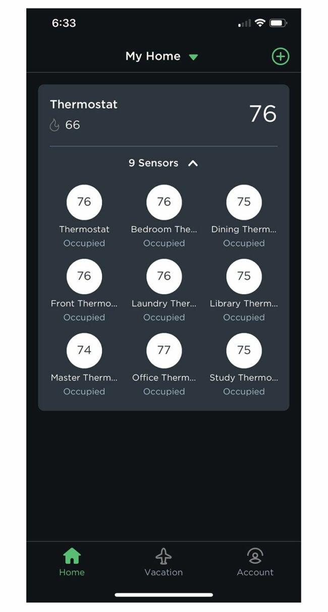 ecobee smart thermostat app