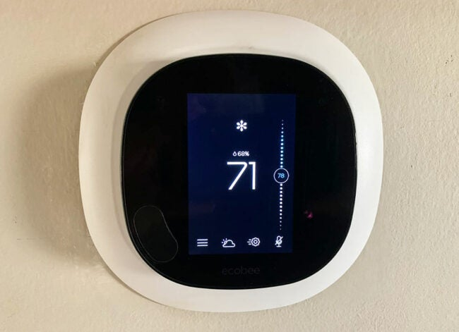 ecobee smart thermostat appearance