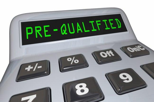 Pre-Qualified Loan Mortgage Calculator 3d Illustration