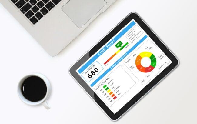 Credit score report tablet computer