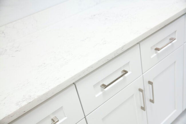 faux marble painted countertop