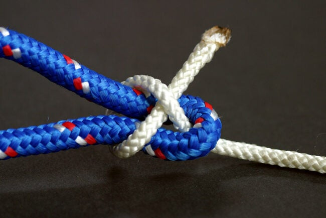 types of knots - sheet bend