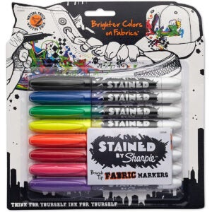 Best Permanent Marker Options: SHARPIE 1779005 Stained Fabric Markers