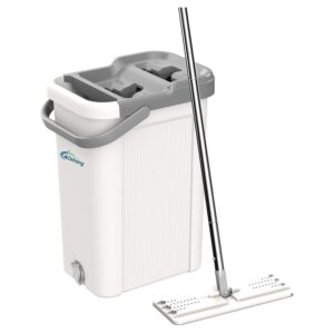 The Best Mop For Laminate Floors Option: oshang Flat Floor Mop and Bucket Set