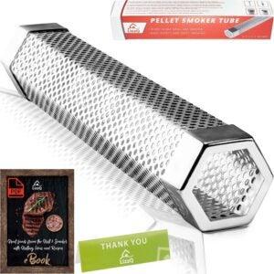 The Best Pellet Tube Smoker Option: LIZZQ Premium Pellet Smoker Tube 12 inches