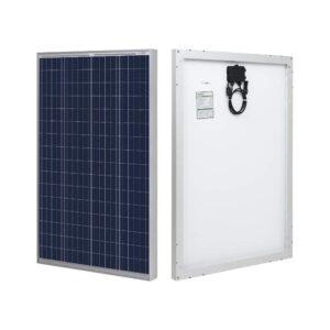 最佳便携式太阳能电池板选择:HQST 100瓦多晶12V太阳能电池板