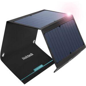最佳便携式太阳能电池板选项:Nekteck USB太阳能电池板,21W太阳能充电器