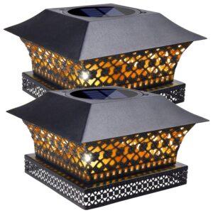 The Best Solar Post Cap Lights Option: Siedinlar Solar Post Lights for Garden (2 Pack)