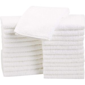 The Best Washcloth Option: Amazon Basics Fast Drying Terry Cotton Washcloths