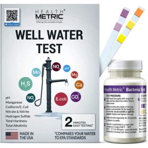 The Best Water Test Kit Option: Health Metric Well Water Test Kit for Drinking Water